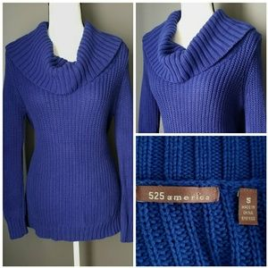 ANTHRO 525 AMERICA Royal blue cowl neck sweater